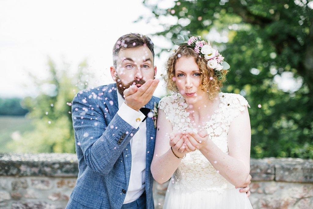 Konfetti Paarshooting Hochzeit