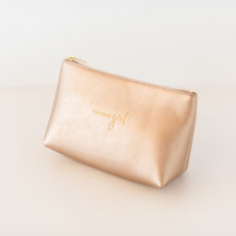 Kosmetiktasche 'You glow girl' metallic roségold