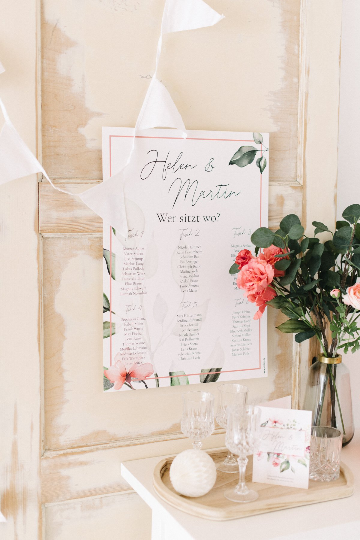 Poster mit Sitzplan zur Hochzeit von Printkiss