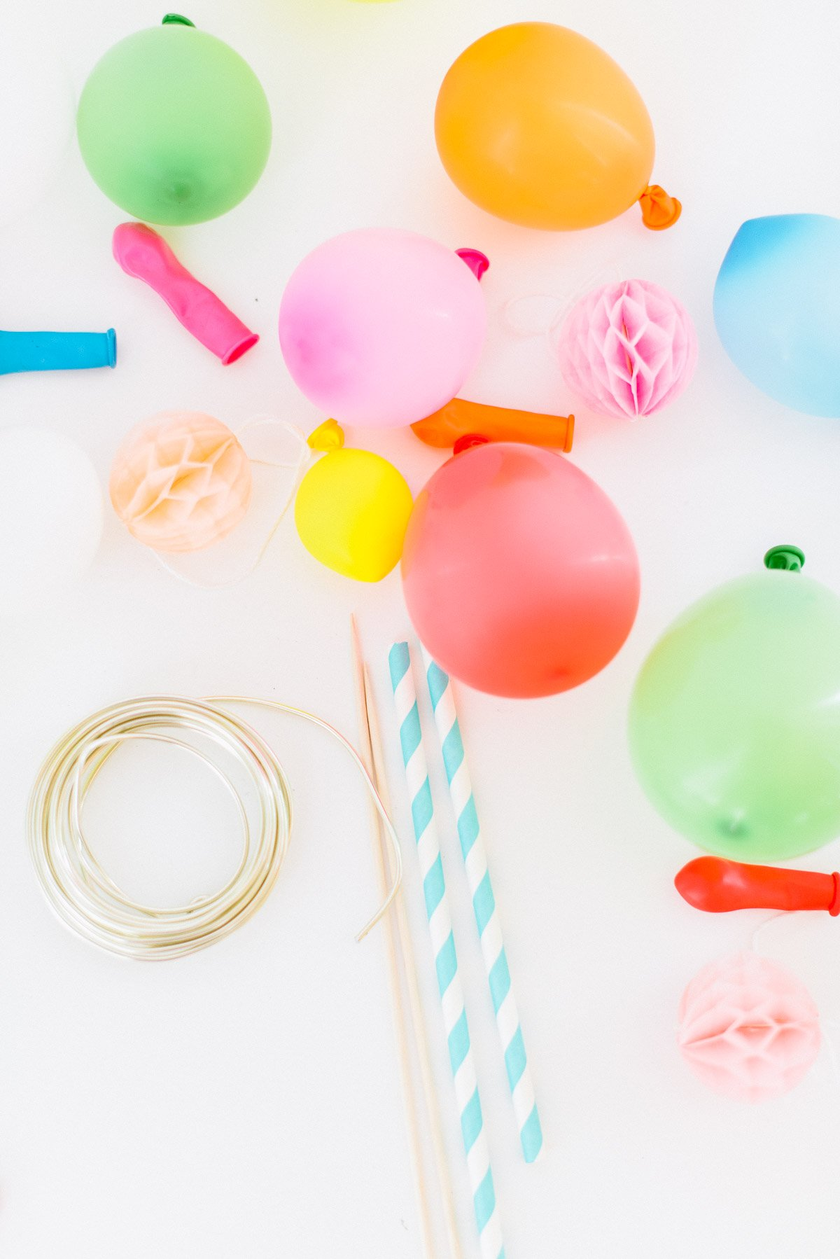 Einkaufsliste für die Mini Ballongirlande