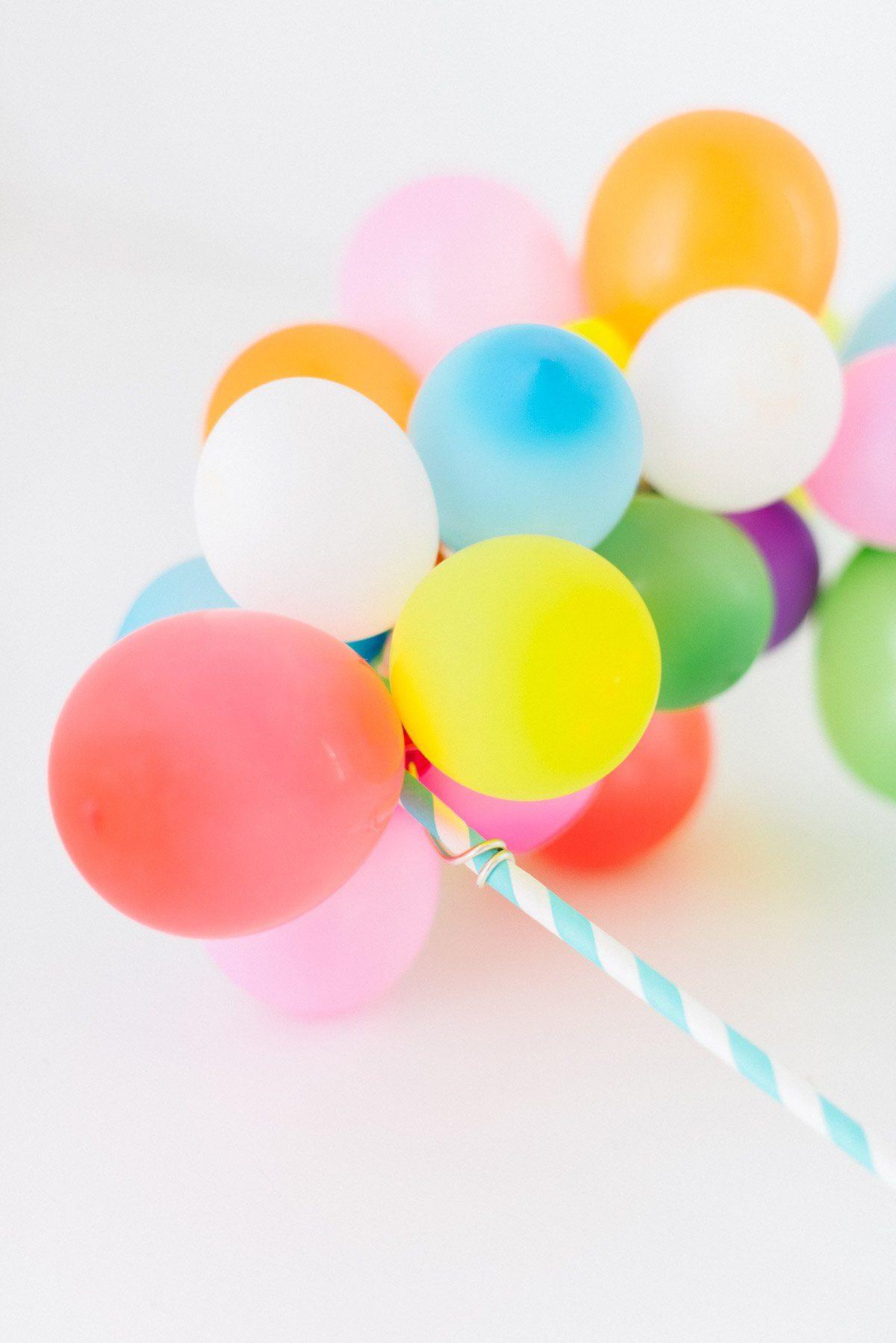 Diy Cake Topper Mit Mini Ballongirlande Fraulein K Sagt Ja