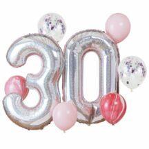 Folienballon Set 30. Geburtstag irisierend