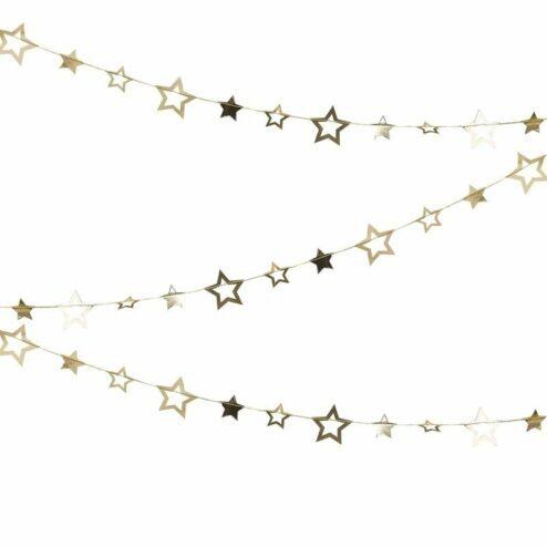 Girlande mit goldenen Sternen