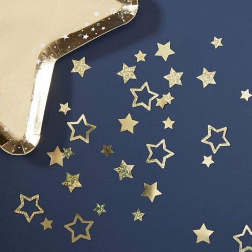 Konfetti Sterne Gold