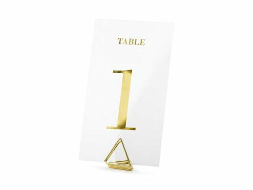 Tischnummern Gold transparent