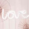 LED Hochzeitsschild Love