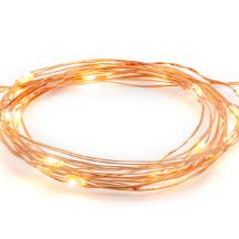 Lichterkette String roségold (190 cm)