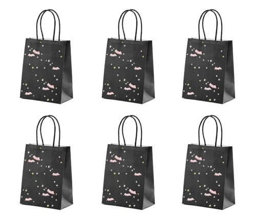 Partytaschen Fledermaus schwarz