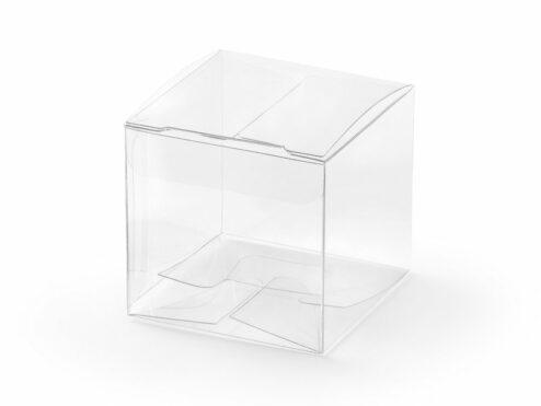 Geschenkschachtel Würfel transparent
