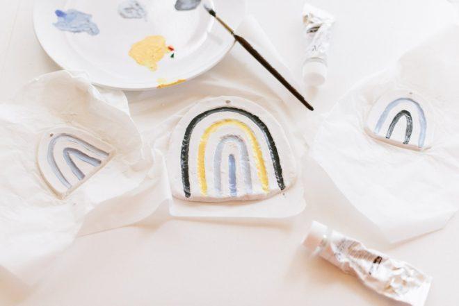 Regenbogen Modelliermasse DIY basteln Anleitung Kindergeburtstag Fraeulein K sagt Ja