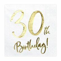 Papierserviette 30th Birthday