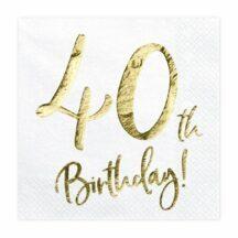 Papierserviette 40th Birthday