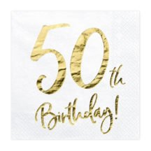 Papierserviette 50th Birthday