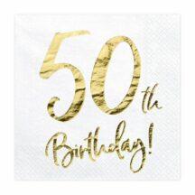 Papierserviette 50th Birthday