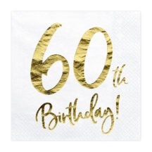 Papierserviette 60th Birthday