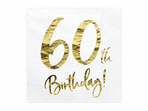 Papierserviette 60th Birthday
