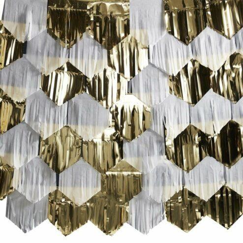 Tassel Wanddekoration weiß - gold