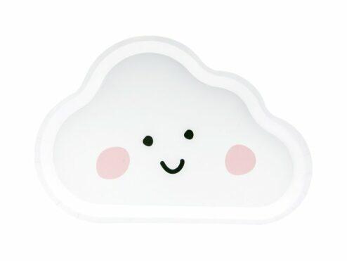 Pappteller Wolke