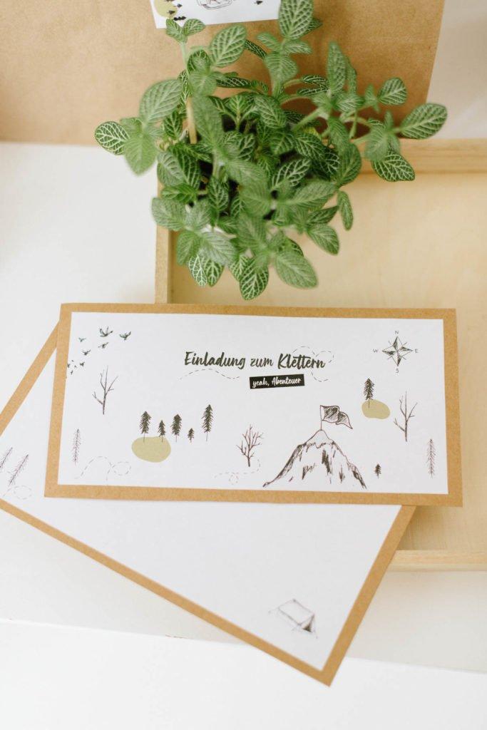 Einladungskarte Klettern Kindergeburtstag