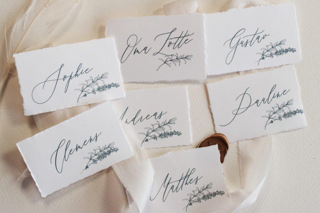 Kalligrahie Namenskarten von Honeybird