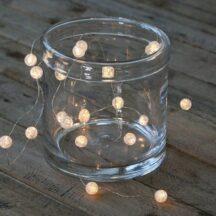 Lichterkette Kristalle LED weiß