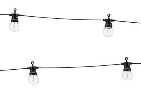 Lichterkette schwarz LED