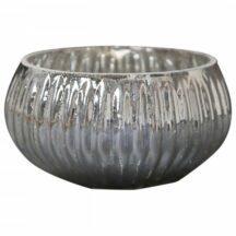 Teelichthalter mit Rillen antik silber (3 Stück)