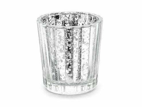 Teelichthalter silber 6cm