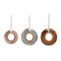 3 Ornamente Metall Schnur