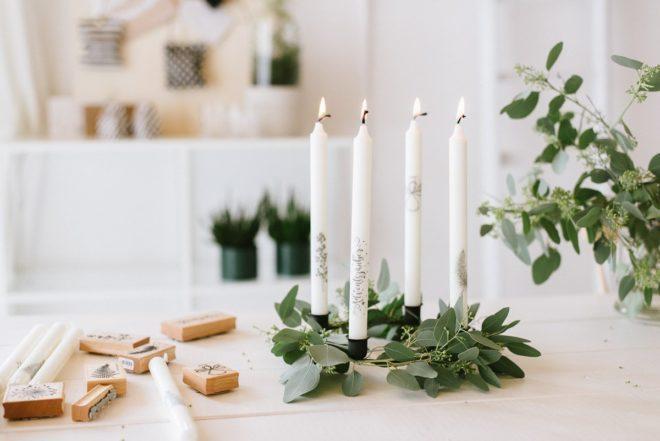 DIY Idee: Kerzen bestempeln