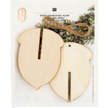 Eicheln aus Holz klein 3 Stueck
