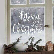 Fensteraufkleber Merry Christmas weiß