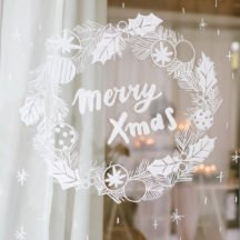 DIY: Weihnachtliches Fensterbild mit Kreidestiften