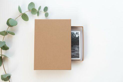 Fotoschachtel Kraftpapier Pure