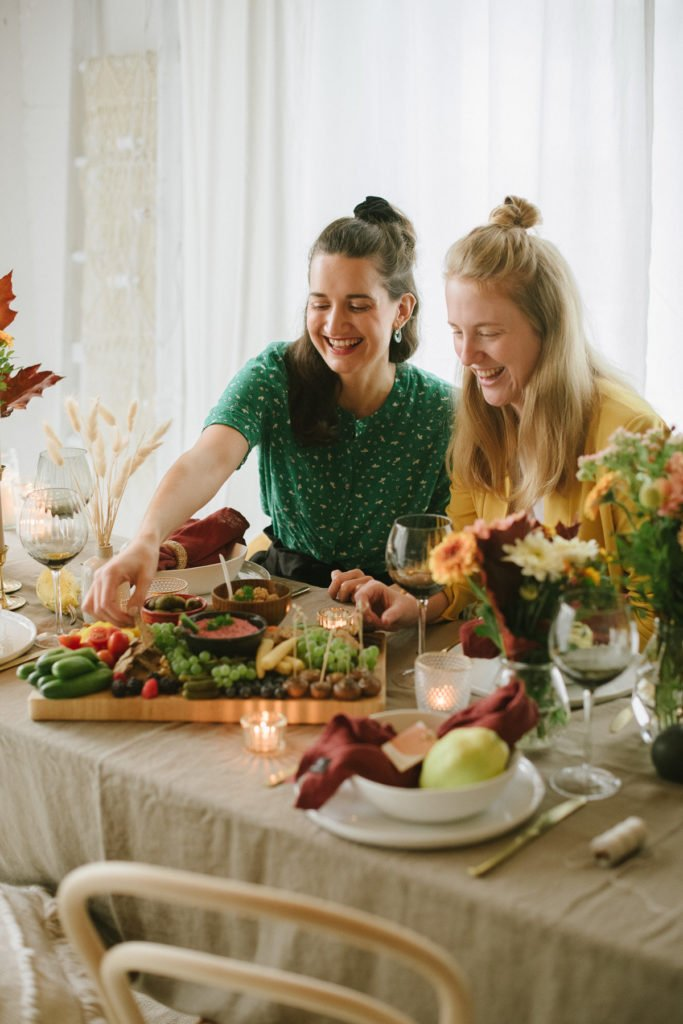 Herbstliches Freunde-Dinner mit veganem Menü