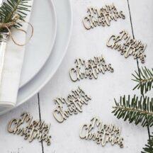 Holzkonfetti Merry Christmas