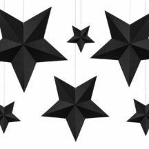 Papierdekoration Sterne schwarz