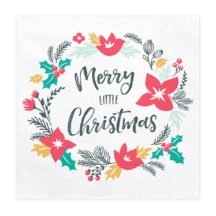 Papierserviette Merry little Christmas