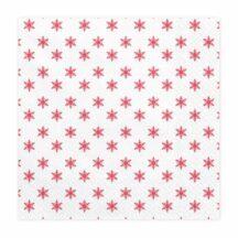 Papierserviette Schneeflocke rot