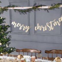 Schriftzug Merry Christmas aus Holz