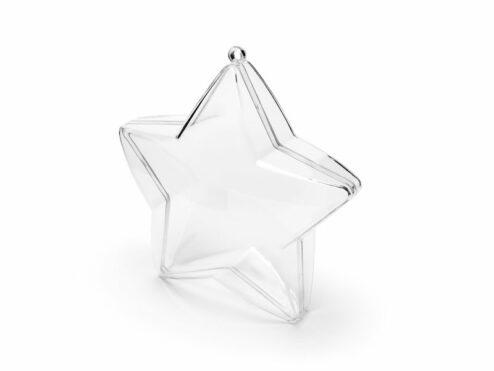 Sterne zum Aufhaengen durchsichtig 3 Stueck