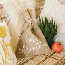 Jute Beutel Holly Christmas