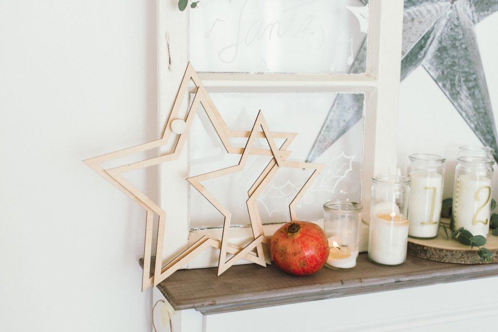 Sterne zum Aufhängen aus Holz