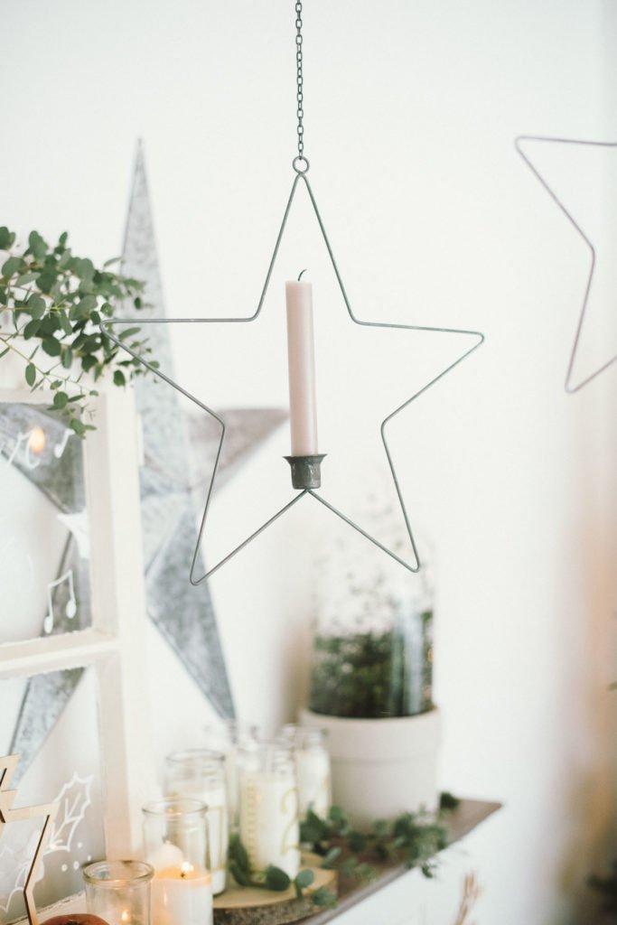 Kerzenhalter Stern zum Aufhaengen