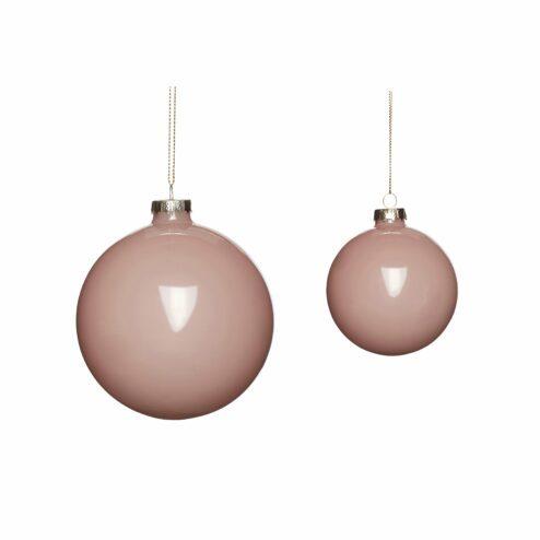 Christbaumkugeln Glas rosa