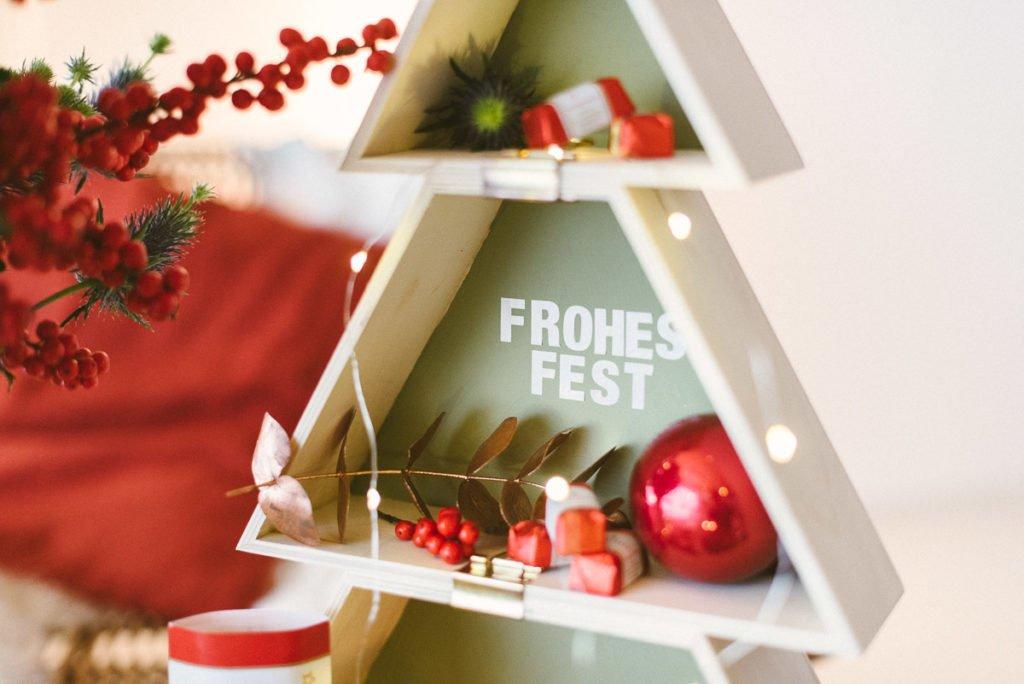Nikolausüberaschung: DIY Holztannenbaum und Amaryllisstrauß