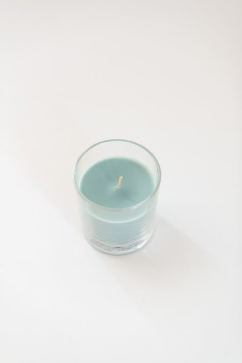 Kerze im Glas salbei