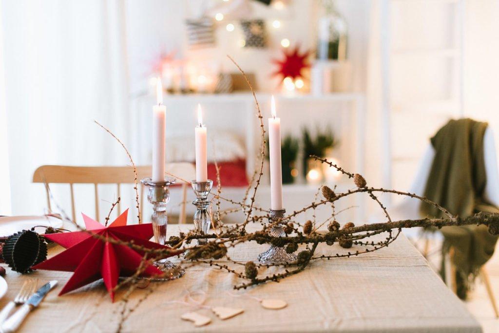 DIY: Minimalistisch weihnachtlicher Faden-Tannenbaum