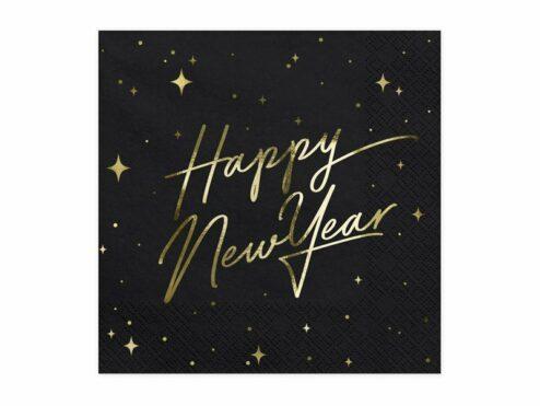 Papierserviette Happy New Year Gold