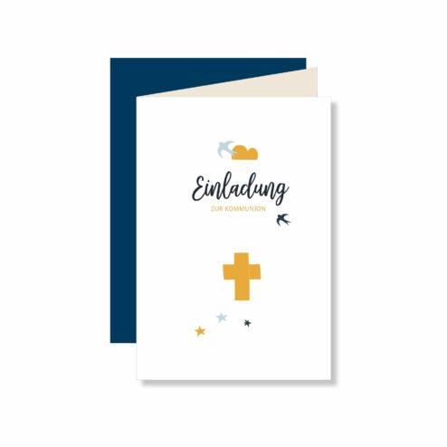 Einladungskarte Blue Bird